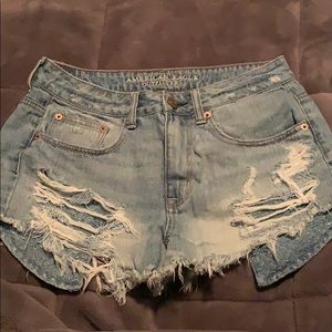 American eagle ripped shorts